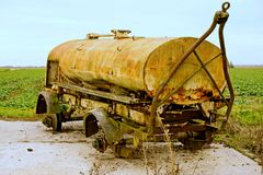 Agricultural Tanker abandoned Royalty Free Stock Images