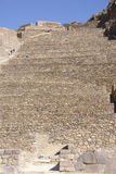 Agricultural terraces below Inca city ruins stock photos