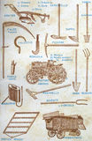 Agricultural tools Royalty Free Stock Photography