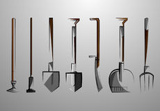 Agricultural tools 1.0 Royalty Free Stock Images