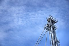 Agricultural tower with blue sky royalty free stock images