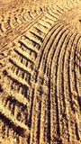 Agricultural tracks Royalty Free Stock Photos