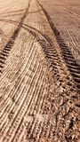 Agricultural tracks Royalty Free Stock Photo