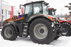 Free Agricultural Tractor At Winter Snow Day Royalty Free Stock Images - 98906269