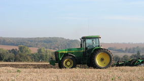 Agricultural tractor stock video footage