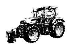 Agricultural tractor illustration art Stock Images