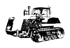 Agricultural tractor illustration art Royalty Free Stock Photography