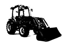 Agricultural tractor illustration art Royalty Free Stock Photos