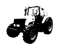 Agricultural tractor illustration art Stock Image