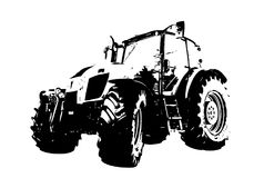 Agricultural tractor illustration art Royalty Free Stock Images