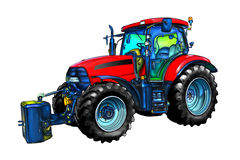 Agricultural tractor illustration color  art Stock Photos