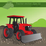 Agricultural tractor, transport for farm. Vector illustration Royalty Free Stock Photo