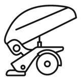 Agricultural trailer icon, outline style. Agricultural trailer icon. Outline agricultural trailer vector icon for web design isolated on white background vector illustration