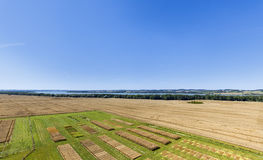 Agricultural trial fields. In Mecklenburg, Germany stock photography