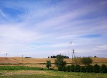 Agricultural view. Arristic look in colours. Stock Images