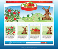 Agricultural web template Royalty Free Stock Image