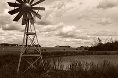 Agricultural Windmill stock photography