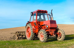 Agricultural work after processing. Cultivation of land in Lithuania Stock Photography