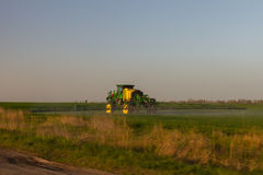 Agricultural work in the Ukrainian fields royalty free stock photo