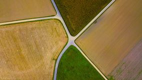 Agriculture from above Stock Image