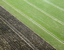 Agriculture acre from above Royalty Free Stock Photography