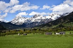 Agriculture, Alpine, Alps royalty free stock image