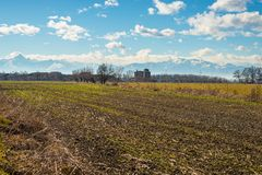 Agriculture around the alpine arc Royalty Free Stock Photos