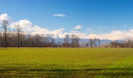 Agriculture around the alpine arc Royalty Free Stock Image