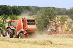 Agriculture - Baling Hay Royalty Free Stock Image