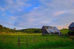 Agriculture, Barn, Clouds Royalty Free Stock Image