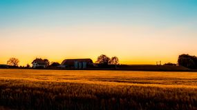 Agriculture, Barn, Clouds Royalty Free Stock Photos