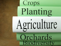 Agriculture books Stock Photography