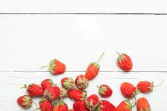 Agriculture bright berry, strawberry background. Copy space for text royalty free stock photo