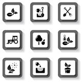 Agriculture buttons set Royalty Free Stock Photo