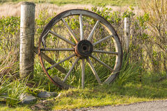 Agriculture, Cart wheel, abandoned Stock Photo