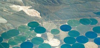 Agriculture centrale d'irrigation de pivot photos libres de droits