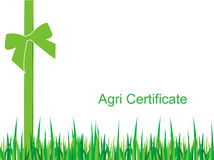 Agriculture certificate Stock Image