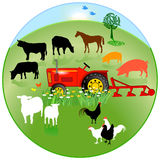 Agriculture circle sign Royalty Free Stock Photography