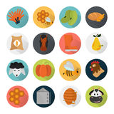 Agriculture color set icons on white background Royalty Free Stock Photography