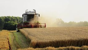 Agriculture, combine harvester Royalty Free Stock Images