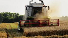 Agriculture, combine harvester Royalty Free Stock Photos