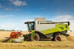 Agriculture combine harvester Stock Photo