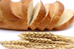 Agriculture concept. Bread and ears of wheat Royalty Free Stock Image
