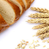 Agriculture concept. Bread and ears of wheat Stock Images