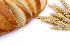 Agriculture concept. Bread and ears of wheat Royalty Free Stock Photo