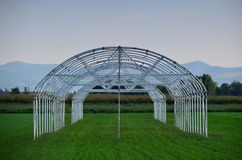 Agriculture construction tent greenhouse Royalty Free Stock Photography