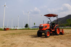 Agriculture. Coupled with wind energy Royalty Free Stock Images