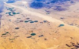 Agriculture dans le désert Images libres de droits