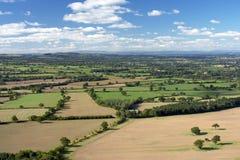 Agriculture de l'horizontal de pays, l'Angleterre Photographie stock libre de droits