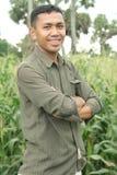 Agriculture de maïs de réussite Photographie stock libre de droits
